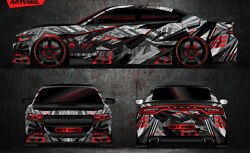 Custom Car Sticker Hood Decal Full Body Livery Vinyl Wrap Urban Camouflage