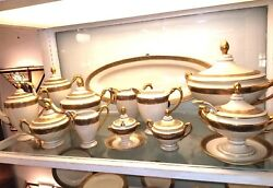 SCHLAGGENWALD CUSTOM ORDERED DINNERWARE HUGE SET 1930 (The only 1 in the world)