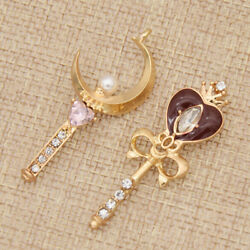 Sailor Moon Necklace Pendant Alloy Jewelry Women Charms Crown Moon Heart Decor