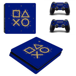 PS4 SLIM - Days of Play - Vinyl Skin Protector + 2 Controller Skins [0077]
