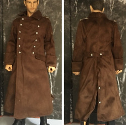 16 Scale Soldier Accessories WWII German North Africa Wehrmacht Brown Overcoat