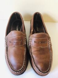 Sebago Men's Classic Slip On Light Brown Leather Penny Loafers size 9