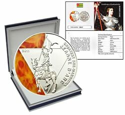 Togo 2011 500 Francs Greatest She-Warrior Jeanne Arc 12 oz. Silver Proof Coin