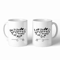 She Is Gorgeous Because Of Me White Mothers Day Coffee Mug For Moms
