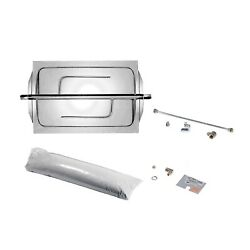 Rasmussen Custom Embers Stainless Steel Outdoor Fireplace Burner Kit Natural Ga