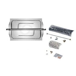 Rasmussen Custom Embers Stainless Steel Outdoor Fireplace Burner Kit Propane 9