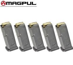 FIVE MAGPUL Fits GLOCK 17 9mm 10 Round MAGAZINES 801 BLK *FAST SHIP*