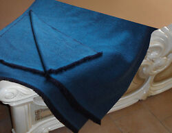Luxe Oh` Dor 100% Cashmere Cashmere Cover Plaid 4 Thread Blue 51 316x74 1316in