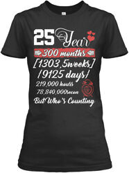 25 Year Anniversary T 25th Wedding - 300 Months Gildan Women's Tee T-Shirt $17.99