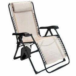 Timber Ridge Zero Gravity Lounge Chair Oversize XL Adjustable Recliner with H...