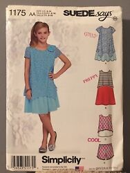 Simplicity 1175 BB Girls#x27; Girls#x27; Plus Dresses Top and Shorts Sewing Pattern $4.50