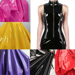 Vinyl Faux Leather Wet Look Glossy Shinny Fabric Mirrored Stretch Dress Bag 57