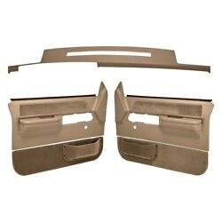 For Chevy C1500 88-89 Dashboard Cover Light Brown Dash Cover & Door Panels Combo