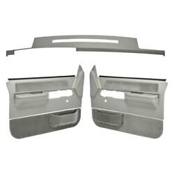 For Chevy C1500 88-89 Dashboard Cover Light Gray Dash Cover & Door Panels Combo