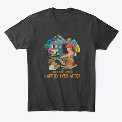 Camping And Dogs She Lived Happily Premium Tee T-Shirt