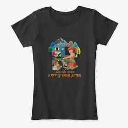 Camping And Dogs She Lived Happily Women's Premium Tee T-Shirt