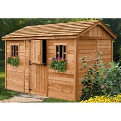 Woman Cave Cabana 12 Ft W x 8 Ft D Wooden Garden She Shed Femme Den Lady Lounge