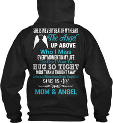 Easy-care - She Is In Every Beat Of My Heart The Angel Gildan Hoodie Sweatshirt