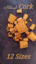 CORK stopper plug round tapered style crafts fishing lab wine *various sizes