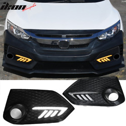 Fits 16-20 Honda X Gen Civic Type R Style LED DRL Daytime Running Lights Lamps $89.99