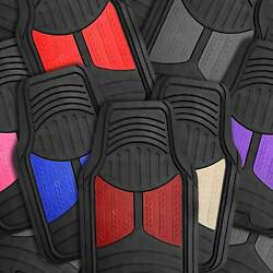 Car Floor Mats for All Weather Rubber 2 Tone Design Heavy Duty 4 Pc Set $29.99