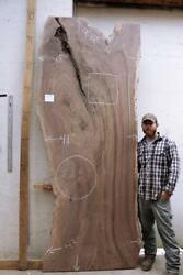 Figured Wide Live Edge Wood Slab Rustic Natural Wooden Dining Table Walnut Raw