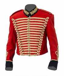 Napoleonic and Crimean Pelisse - red wool gold frogging - made to order
