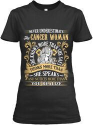 Cancer Woman Knows More Than She Says Gildan Women's Tee T-Shirt