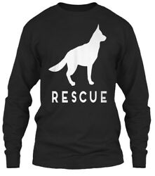 German Shepherd Rescue Adopt She Gildan Long Sleeve Tee T-Shirt