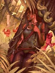 Tomb Raider Survival Giclee Limited Collectors Lithograph Rare