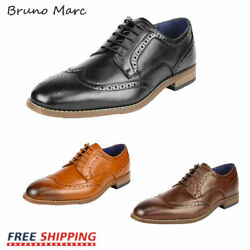 Bruno Marc Mens Dress Shoes Formal Casual Shoes Brogue Derby Oxford Shoes $27.89