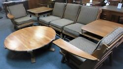Old Hickory American Provincial Sectional & Tables ~ Rustic Modern ~ 1940-1950's