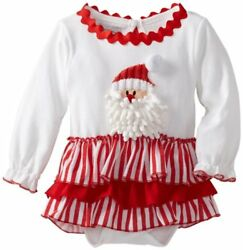 Mud Pie Baby Santa All In One Dress Multi 9 12 Months $23.00