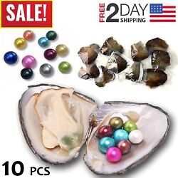 10 Individually Akoya Oysters With Pearls Inside Freshwater Birthday Gift 8mm