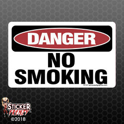 DANGER No Smoking Sticker - OSHA Safety vinyl decal sign warning caution FE121