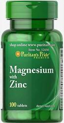 Puritan#x27;s Pride Magnesium with Zinc 100 tablets free shipping $8.91