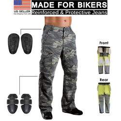 Motorcycle Motorbike Jean Protective Lining Knee Armour Camo Biker Trouser Pant $69.99