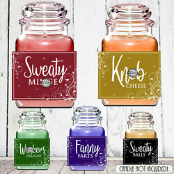 Novelty Birthday Xmas Gift Candle LABEL STICKER Rude Funny Mum Sister Friend GBP 2.19
