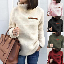 Ladies Fleece Fur Jacket Outerwear Tops Winter Warm Hoodie Fluffy Coat Women#x27;s $16.81