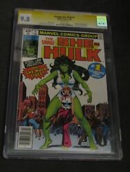 Savage She Hulk # 1 SIGNED STAN LEE 9.8 CGC SS and Joe Sinnott Marvel