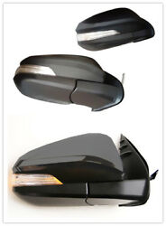 Rear View Side Mirror Turn Signal LED Light for Toyota Hilux Revo 15-17 Black B