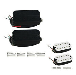US Alnico 5 Double Coil Humbucker Guitar Neck Bridge Pickup 12 Adjustable Poles $27.85