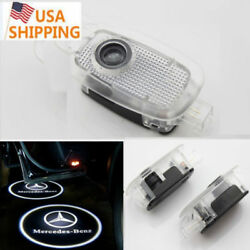 2PCS For Mercedes S-Class 07-13 Ghost LED Door Step Courtesy Shadow Laser Lights