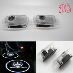 2PCS Ghost LED Door Step Courtesy Shadow Laser Lights For Mercedes S-Class 06-13