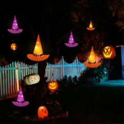 10M 6PCS Halloween Decorations Witch Hats Caps String Lights Outdoor Lights