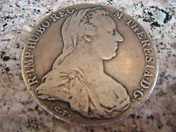AUSTRIA 1780 MARIA THERESA amp; DOUBLE HEADED EAGLE STERLING SILVER COIN C. $299.00