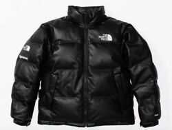 Supreme x North Face Leather Nuptse Jacket S Backpack Duffle Glove Black FW17