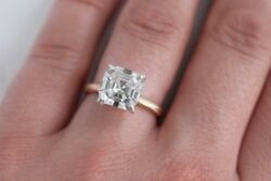 1.30 Ct Asscher Cut Diamond Engagement Solitaire Ring IVS1 GIA Gold or Platinum