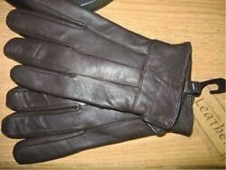 Mens Thinsulate Insulated Sheepskin Leather Gloves BROWN M. LG. XL wool lining $24.88