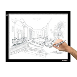 AGPtek A3 Ultra-thin USB Power LED Artcraft Tracing Light Pad Light Box with Br